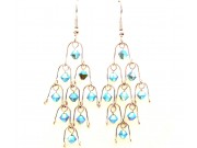 chandelier earrings - pacific opal