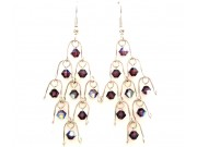 chandelier earrings - amethyst