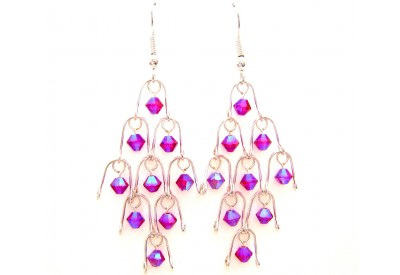 chandelier earrings- light siam