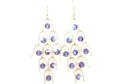chandelier earrings - tanzanite