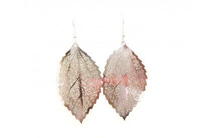 filigree leaf earrings - solid silver