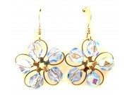 in bloom earrings - light blue crystal