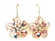 in bloom earrings - pink crystal