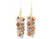 jumble earrings -  capri, pink, perriwinkle blue crystal