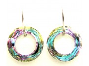 swarovski cosmic ring earrings - vitrail light