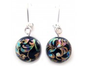 tensha bead earrings - black