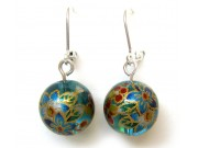 tensha bead earrings - blue