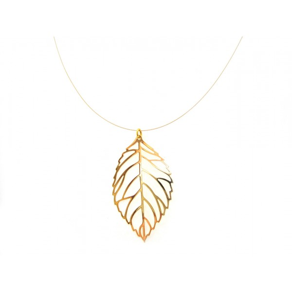 Leaf pendant gold filigree leaf pendant gold aloadofball Image collections