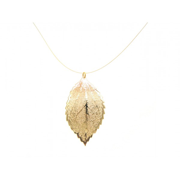 Leaf pendant solid gold filigree leaf pendant solid gold aloadofball Image collections