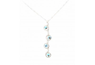 holly necklace - pacific opal swarovski crystal
