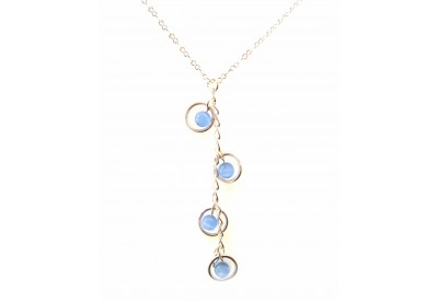 holly necklace - powder blue cat's eye