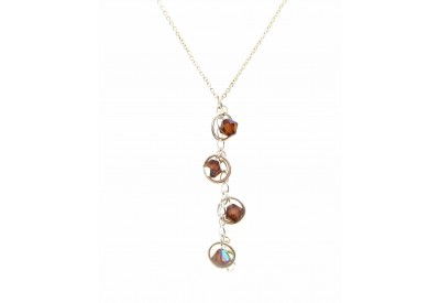 holly necklace - topaz swarovski crystal