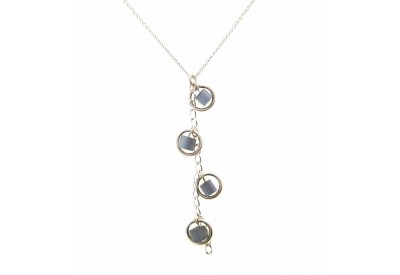 holly necklace - grey cat's eye