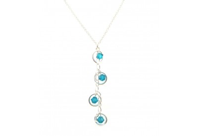 holly necklace - blue zircon sarovski crystal