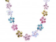 in bloom choker -  assorted  fire-polished crystal