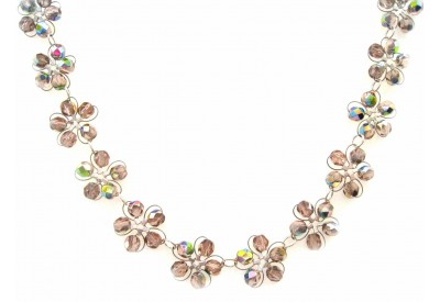 in bloom choker - rosaline crystal