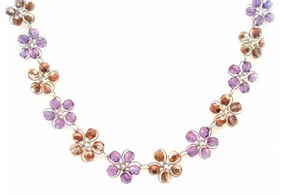 in bloom choker - capri, soft amethyst crystal