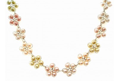 in bloom choker - assorted pearls