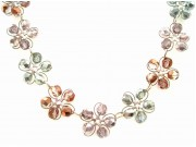 in bloom choker - capri, pink, labrador crystal
