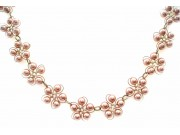 in bloom choker - dusky pink pearls