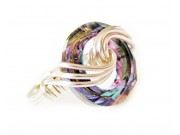 silver swirl swarovski cosmic ring - vitrail light