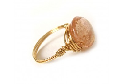 single stone ring - champagne, gold